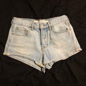 Brandy Melville Light Wash Jean Shorts